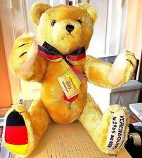 Herrmann Teddy Wiedervereinigungsbär 40 cm Mohair Lim. 2965/4000 Kippstimme Zert