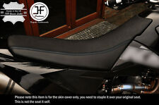 DESIGN 2 BLACK STRIPE CUSTOM FITS KTM LC4 640 98-07 DUAL VINYL SEAT COVER