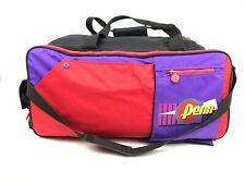 "Vtg 90s PENN Tennis Travel Bag ColorBlock 25"" Shoulder weekend Sports racquet"