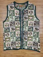 Vintage Vitabella Tapestry Vest Made in Norway Size XL 100% Cotton