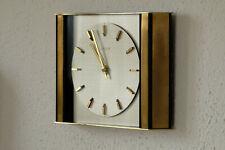 Kienzle Quartz Wanduhr Batterie Uhr Messing Glas Vintage mid century 60er