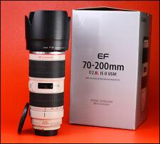 Canon EF 70-200mm is F2.8 MK II USM Zoom Lente + L IS F/R CAPS + Capucha