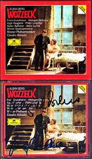 Hildegard BEHRENS & Franz GRUNDHEBER Signiert BERG WOZZECK ABBADO 2CD Langridge
