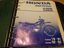 Honda Shop Manual 1978 - 1981 XL250S 1982 - 1983 XL250R 6142805
