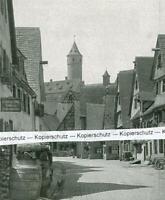 Dinkelsbühl : Schmiedgasse mit grünem Turm - um 1925       V 12-9
