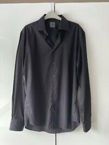 CALVIN KLEIN Shirt Long Sleeves Black Size 42 / 16.5 Exc. Cond.