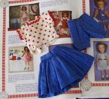 SHIRLEY TEMPLE 1958 SEARS 3 PC. BLUE SKIRT RED DOT TOP & SHORTS FOR ST-12 DOLL