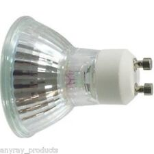 (8) 50W GU10 50 Watt Back Light Bulb Halogen 50Watt MR16 120 Volt Anyray A1822Y