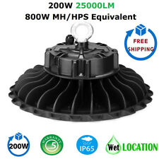 1000LED 200W UFO LED High Bay Light, Super Bright 25000 Lumens, IP65 Waterproof