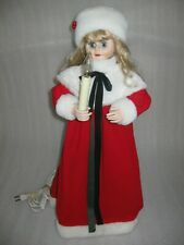 """Vintage 24"""" Christmas Animated VICTORIAN GIRL Motionette Lighted"""