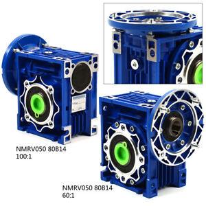 Schneckengetriebe Getriebemotor Gearboxs Speed Reducer NMRV050, 80B14 60:1 100:1