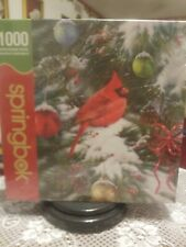 Springbok Nature's Ornament Cardinal 1000 Piece Puzzle-NEW FACTORY SEALED