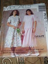 🌹 McCALL'S #P970 - LADIES MODEST TEA LENGTH ( 2 STYLE ) DRESS PATTERN 12-16 FF