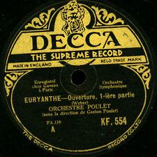 """ORCHESTRE (GASTON) POULET  """"Euryanthe"""" Overture  (Weber)  1&2    78rpm     G2846"""