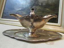 antica salsiera in argento massiccio punzone minerve epoca 19 ° stile L XV