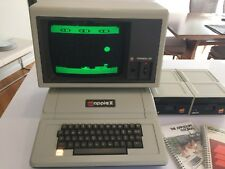 Vintage Apple II+ Computer A2S1048 w/ 2 disk drives, Apple monitor III - manuals