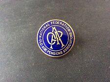 Vintage Enamel Badge Pin National Federation Old Age Pensions Association London