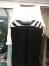 jones new york  sport dress size  1xl    100 % cotton  black & white  new no tag
