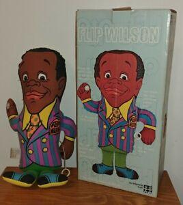 Vintage 1970 Flip Wilson & Geraldine Pull String Talking Doll Does Not Talk /Box