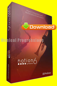 NOTION 6 - MUSIC NOTATION SOFTWARE - DIGITAL - NEW - WIN/MAC