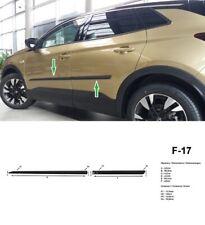 Para Opel grandland X a partir de 2017 einstiegsleisten flexill acero inoxidable cepillado cromo