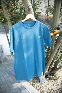 By Parra Running Orange T shirt - Teal Green - Medium - Piet Parra, Rockwell