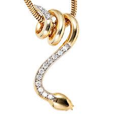 Halsketten und Anhänger mit SI Reinheit behandelter Echtschmuck aus Gelbgold