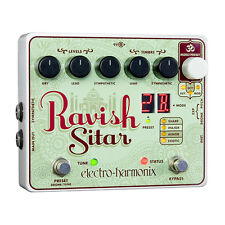 Electro-Harmonix Ravish Sitar Simulator Guitar Effects Pedal +Picks