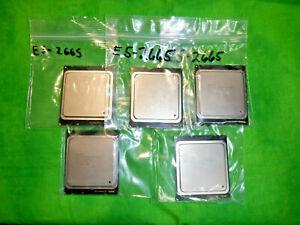 Intel Xeon E5-2665 8-Core CPU 2.4GHz FCLGA2011 115W Server Processor LOT OF 5 @9