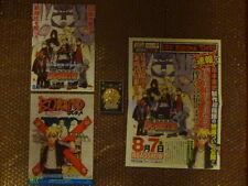 Naruto the Movie BORUTO Theater Limited Medal Boruto / Movie Flyer Poster Set