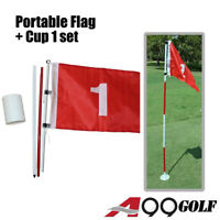 A99Golf Portable Flag w. Cup Backyard Practice Hole Pole Putting Green #1#2#3