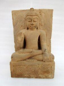 Antique Old Rare Hand Carved Stone Hindu Jain God Mahaveer Buddha Figure Statue
