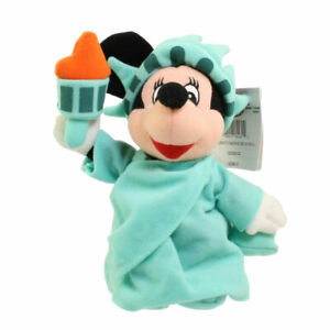 Disney Bean Bag Plush - LIBERTY MINNIE (Mickey Mouse) (10 inch) - Mint with Tag