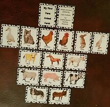 Farm Animal Flash Cards - 16 picture & word cards- EYFS- childminder