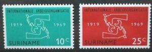 SURINAME 1969 Int Labour Organization. Set of 2. Mint Never Hinged. SG656/657.