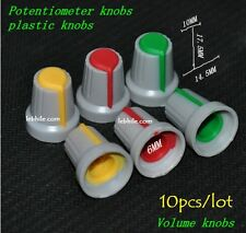 M34 10pcs/lot Plastic Potentiometer Volume Control Knobs Red Yellow Green