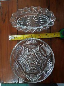 Clear Glass Trinket Dishes x 2