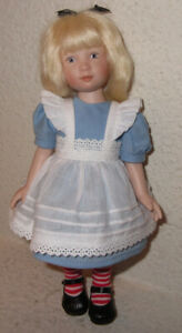 Heather Maciak - Dressed As Alice in Wonderland Doll - All Bisque - Signed