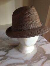 Vintage Kanyon Road Headwear Brown Tweed Fedora