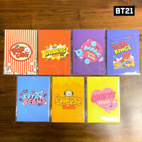 BTS BT21 Official Authentic Goods Mini Note Snack Ver 7SET + Tracking Num
