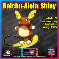 Alola RAICHU Shiny | BATTLE READY | Master Ball | 6IV | Pokemon Sword Shield