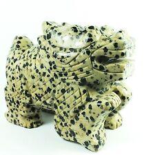 Dragon Carved in Dalmatian Stone Gemstone (EA2278) carving crystal healing reiki