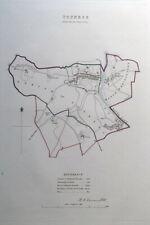 TOTNES, DEVON, UK, Street Plan, Dawson Original antique map 1832