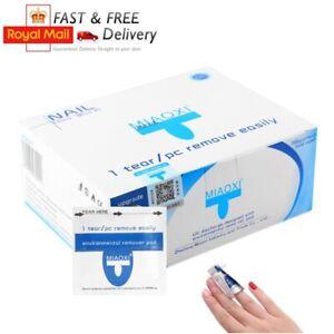 UV/LED Gel Nail Polish Remover Soak Pads Foil Acetone Wraps 10/20/50/100/200pcs