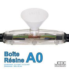 Boîte de jonction Résine sans connectique A0 - 160x40mm