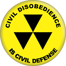 "Magnet - Civil Disobedience is Defense Protest Yellow Gift 2.25"" Fridge 31165"