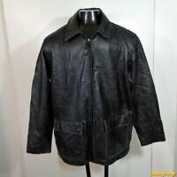 CHEROKEE Lambskin LEATHER JACKET Mens Size L Black insulated zippered