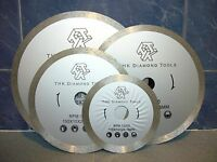 "180mm 7"" THK Diamond segment sintered continuous rim TILE SAW BLADE wheel disc"