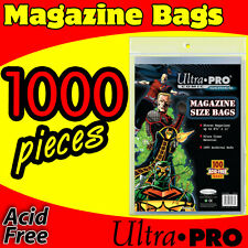 ULTRA PRO 1000 MAGAZINE STORAGE SLEEVES BAGS ACID FREE NON ADHESIVE 81978-1000