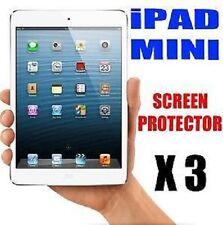 "3 X Apple iPad Mini 7.9"" Clear LCD Screen Protector Cover Gurad & Clean Cloth"